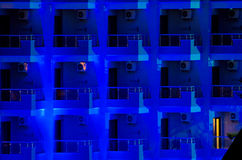 Modern hotel facade by night Stock Image