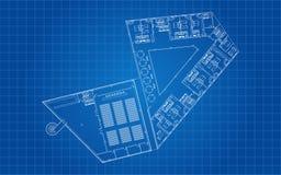 Modern Hotel Floor Architectural Plan royalty free illustration