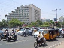 Modern hotel in Indische stad royalty-vrije stock foto's