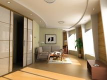 Modern hotel interior royalty free stock photography