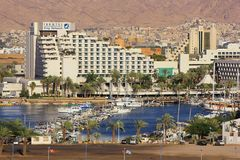 Modern hotel King Solomon in popular resort - Eilat Stock Photos
