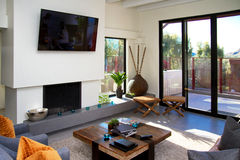 Modern Hotel Living Area Stock Photography