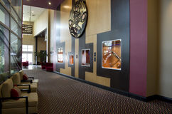 Modern hotel lobby Stock Images