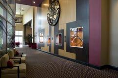 Modern hotel lobby stock images