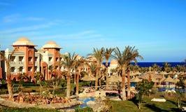 Modern hotel in maroccan stijl royalty-vrije stock afbeeldingen