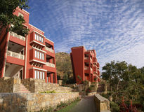 Modern hotel in mountains of Rajasthan Royalty Free Stock Photo