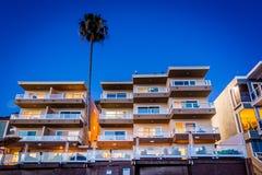 Modern hotel at night, in Laguna Beach  Royalty Free Stock Photo
