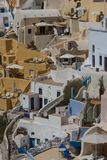 Modern hotel in Oia village, Santorini Stock Photos