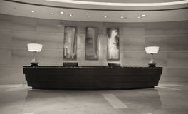 Modern Hotel Reception Desk Stock Images