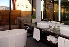Modern Hotel Resort Bathroom Royalty Free Stock Image