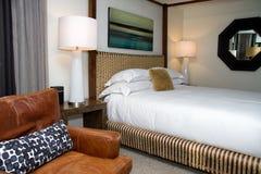 Modern Hotel Resort Bedroom Stock Image