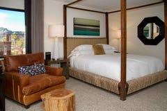 Modern Hotel Resort Bedroom Royalty Free Stock Photo