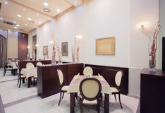 Modern hotel restaurant interior Royalty Free Stock Photo