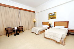 Modern hotel room stock image