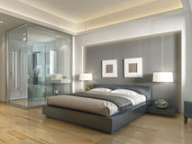 Free Modern Hotel Room Contemporary Style With Elements Of Art Deco. Royalty Free Stock Photo - 79487225