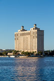 Modern Hotel on Savannah River Royalty Free Stock Images