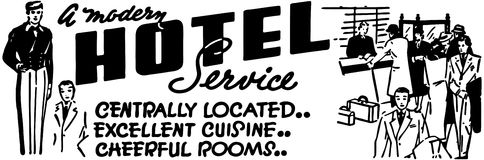 A Modern Hotel Service Stock Image