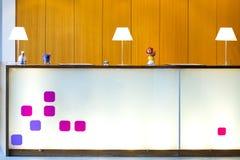 modern hotelllobby Arkivfoto