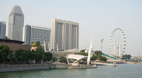 Modern hotels located at Marina Bays in Singapore.  Stock Image