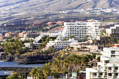 Modern hotels on Playa de Las Americas Stock Image