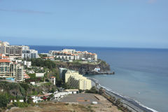 Modern hotels on suburb of Funchal Royalty Free Stock Images