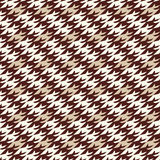 Modern houndstooth seamless pattern Royalty Free Stock Photos