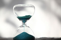 Modern Hourglass. symbol of time. countdown Stock Image