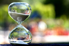 Modern Hourglass. symbol of time. countdown Royalty Free Stock Images