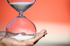Modern Hourglass. symbol of time. countdown Stock Photography