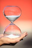 Modern Hourglass. symbol of time. countdown Stock Photo
