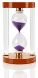 Modern hourglass on the white background Royalty Free Stock Photo