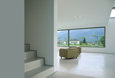 Modern house. Interior, two armchair Stock Photography