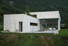 Modern house. A summer evening Royalty Free Stock Photo