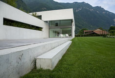 Modern house. A summer day Royalty Free Stock Photo
