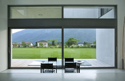 Modern house. Beautiful Internal view of a modern house stock photo