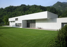 Modern house. A sunny day Royalty Free Stock Photography