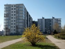 The modern house. In Lithuania. Vilnius city Royalty Free Stock Image