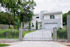 Modern house royalty free stock photos