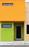 Modern house. With orange and green facade Stock Photography