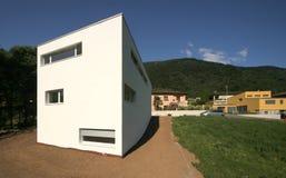 Modern house. External view of a modern house Stock Photography