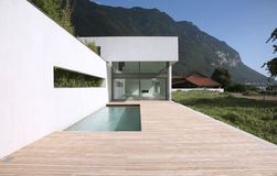 Modern house. External view of a modern house Royalty Free Stock Image