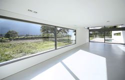 Modern house. Internal view of a modern house stock photography
