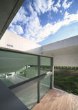 Modern house. External view of a modern house Royalty Free Stock Photo