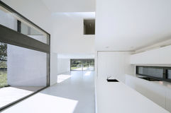 Modern house. Internal view of a modern house Royalty Free Stock Photo