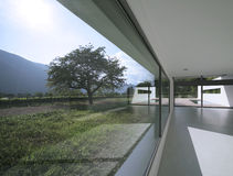 Modern house. Internal view of a modern house stock images