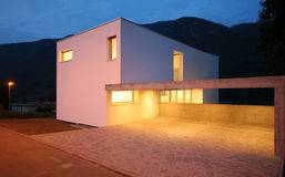 Modern house. External view of a modern house Stock Photo
