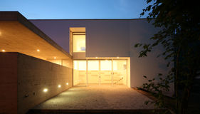 Modern house. A summer night royalty free stock photography