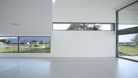 Modern house. Beautiful Internal view of a modern house Royalty Free Stock Photo