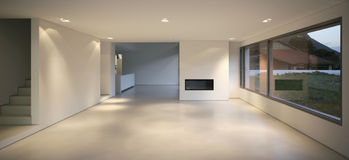 Modern house. Beautiful Internal view of a modern house stock photography