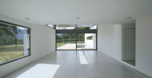 Modern house. Beautiful Internal view of a modern house royalty free stock photo
